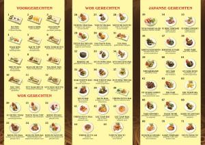 menu achterkant